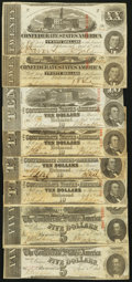 Confederate Notes:1863 Issues, T58 $20 1863. Two Examples;. T59 $10 1863. Four Examples;. T60 $51863. Two Examples.. ... (Total: 8 notes)