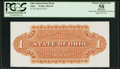 Obsoletes By State:Ohio, (Unknown), OH - Ohio Independent Bank $1 Back Proof Wolka 2042-01....