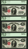 Large Size:Legal Tender Notes, Fr. 37 $1 1917 Legal Tender PCGS Choice About New 58PPQ (5) and About New 55PPQ (1) Six Examples.. ... (Total: 6 notes)