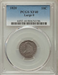 Bust Dimes, 1820 10C Large 0 XF40 PCGS. PCGS Population: (11/124). NGC Census:(5/187). CDN: $480 Whsle. Bid for problem-free NGC/PCGS ...