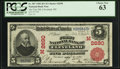 National Bank Notes:Ohio, Cleveland, OH - $5 1902 Red Seal Fr. 587 The First NB Ch. # (M)2690. ...