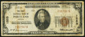National Bank Notes:Oregon, Portland, OR - $20 1929 Ty. 1 The First NB Ch. # 1553. ...