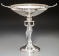 Silver Holloware, American:Center Pieces, A Gorham Neoclassical Silver Figural Centerpiece Bowl, Providence,Rhode Island, circa 1868. Marks: (lion-anchor-G), STERL...