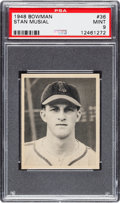 Baseball Cards:Singles (1940-1949), 1948 Bowman Stan Musial #36 PSA Mint 9 - Only One Higher....