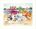 Memorabilia:Disney, Carl Barks Help! Help! Our Unca Donald is Number Two In a Food Chain Signed Limited Edition Print AP #13/25 (Carl ...