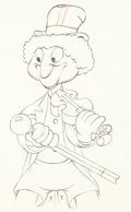 Animation Art:Production Drawing, Mother Goose Goes Hollywood Harpo Marx Animation Drawing (Disney, 1938).. ...