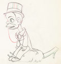 Animation Art:Production Drawing, Mother Goose Goes Hollywood Charlie McCarthy AnimationDrawing (Disney, 1938).. ...