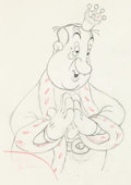 Animation Art:Production Drawing, Mother Goose Goes Hollywood Hugh Herbert Animation Drawing(Disney, 1938).. ...