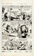 Original Comic Art:Panel Pages, Ken Battefield (attributed) Fight Comics #74 Whole Page 28Original Art (Fiction House, 1951)....