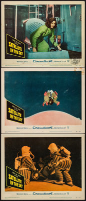 """Satellite in the Sky (Warner Brothers, 1956). Lobby Cards (3) (11"""" X 14""""). Science Fiction. ... (Total: 3 Item..."""
