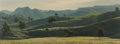 , James Fetherolf (American, 1925-1994). Rolling Hills, 1969.Oil on canvas. 18-1/4 x 48 inches (46.4 x 121.9 cm). Signed ...
