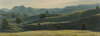 James Fetherolf (American, 1925-1994) Rolling Hills, 1969 Oil on canvas 18-1/4 x 48 inches (46.4