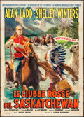 "Movie Posters:Adventure, Saskatchewan (Universal International, 1954). Italian 2 - Fogli(39.25"" X 55""). Adventure.. ..."