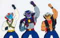 Animation Art:Production Cel, Biker Mice From Mars Production Cel and Animation Drawing(Marvel Films, 1995).... (Total: 2 )