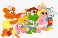 Animation Art:Production Cel, Muppet Babies Multi-Character Production Cel (HensonAssociates, 1984). ...