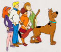 Animation Art:Production Cel, Scooby-Doo Entire Cast Production Cel Setup and AnimationDrawing (Hanna-Barbera, c. 1970s).... (Total: 6 )