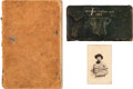 Photography:CDVs, Confederate Surgeon William Henry Robert Carte de Visite and Two Physician's Visiting Logs. ... (Total: 3 )