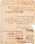 Miscellaneous, Revolutionary War Pay Warrant from the State ofMassachusetts-Bay....