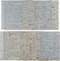 Miscellaneous, [Slavery]. Handwritten Deposition in a Case of Disputed Ownershipof a Slave in Texas. ...