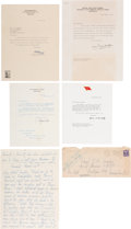 Autographs:Military Figures, John Hart Caughey Papers.... (Total: 5 Items)