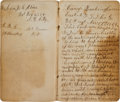 Militaria:Ephemera, Union Soldier's Diary of John Winsor, Company G, 26th RegimentConnecticut Volunteer Infantry. ...