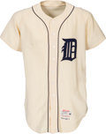 Baseball Collectibles:Uniforms, 1965 Leo Marentette Game Worn Detroit Tigers Jersey....