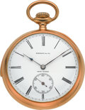 Timepieces:Pocket (post 1900), Tiffany & Co. Very Fine Minute Repeating Gold Pocket Watch,circa 1905. ...