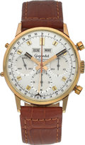 Timepieces:Wristwatch, Wakmann Gigandet Three Register Chronograph With Calendar, circa1960's. ...