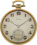 Timepieces:Pocket (post 1900), Zenith Platinum & Gold Pocket Watch, circa 1920. ...