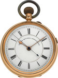 "Timepieces:Pocket (pre 1900) , Swiss Heavy 18k Gold ""Centre Seconds Chronograph"", circa 1870. ..."