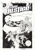 Original Comic Art:Covers, Todd Nauck and Lary Stucker Young Justice #25 Cover OriginalArt (DC, 2000)....
