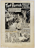 Original Comic Art:Panel Pages, Pierce Rice (attributed) Ted Parrish Splash Page Original Art(unpublished)....
