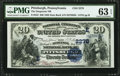 National Bank Notes:Pennsylvania, Pittsburgh, PA - $20 1882 Date Back Fr. 552 The Duquesne NB Ch. #(E)2278. ...