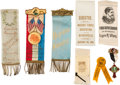 Political:Ribbons & Badges, Gold Rush and Minneapolis Exonumia.... (Total: 8 Items)