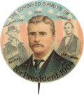 "Political:Pinback Buttons (1896-present), Theodore Roosevelt: Highly Elusive ""Ghost"" Button...."