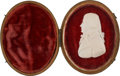 Political:Memorial (1800-present), Alexander Hamilton: A Superb and Highly Important Carved Ivory Miniature....