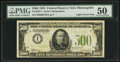 Small Size:Federal Reserve Notes, Fr. 2201-I $500 1934 Light Green Seal Federal Reserve Note. PMG About Uncirculated 50.. ...