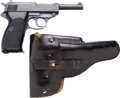 Handguns:Semiautomatic Pistol, German Walther Model P38 Semi-Automatic Pistol with LeatherHolster.... (Total: 2 )