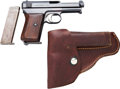 Handguns:Semiautomatic Pistol, Mauser Model 1914 Semi-Automatic Pistol with Leather Holster....(Total: 3 Items)
