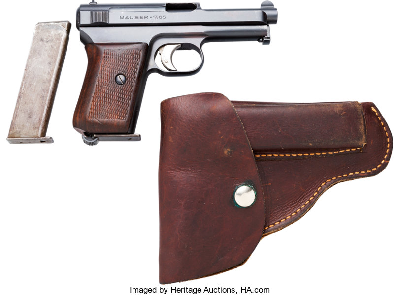 Mauser Model 1914 Semi-Automatic Pistol with Leather Holster