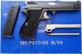 Handguns:Semiautomatic Pistol, Boxed Swiss Army Sig Arms AG P210 Semi-Automatic Pistol.... (Total:4 Items)
