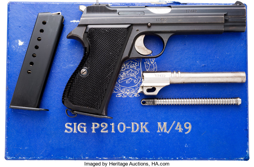 boxed swiss army sig arms ag p210 semi automatic pistol lot
