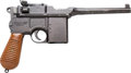 Handguns:Semiautomatic Pistol, Copy of a Mauser Model 96 Broomhandle Semi-Automatic Pistol....