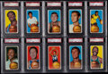 Basketball Cards:Lots, 1970 Topps Basketball PSA Graded Collection (10). ...