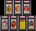 Basketball Cards:Lots, 1969 Topps Basketball PSA Graded Collection (7). ...