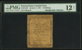 Colonial Notes:Pennsylvania, Pennsylvania October 1, 1755 10s PMG Fine 12 Net.. ...