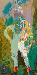 Paintings, LeRoy Neiman (American, 1921-2012). Standing Jock, 1959. Oil on panel. 35-1/4 x 18 inches (89.5 x 45.7 cm). Signed and d...