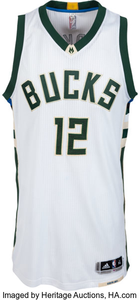 e8db362f3b7 2016 Jabari Parker Game Worn Milwaukee Bucks Jersey - Photo
