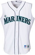 Baseball Collectibles:Uniforms, 1998 Alex Rodriguez Game Worn & Signed Seattle Mariners Jersey....
