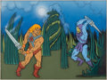 Animation Art:Presentation Cel, He-Man and the Masters of the Universe He-Man and SkeletorPublicity Cels Group of 2 (Filmation, 1983) .... (Total: 2 OriginalArt)